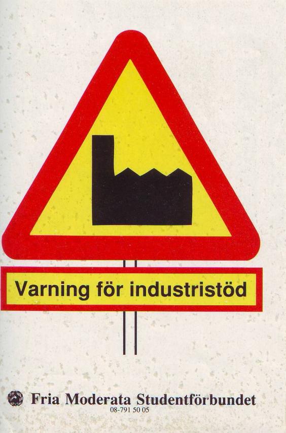 Varning för industristöd