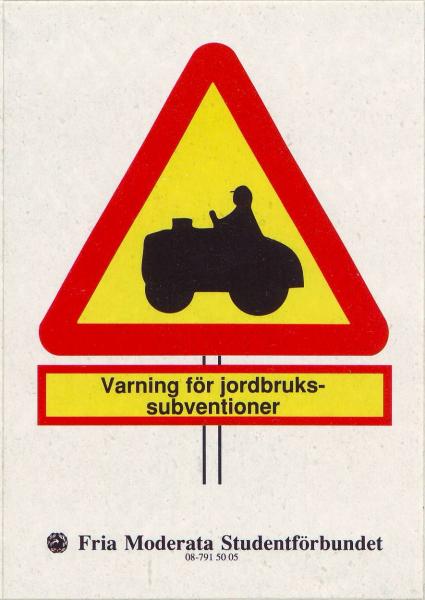 Varning för jordbrukssubventioner