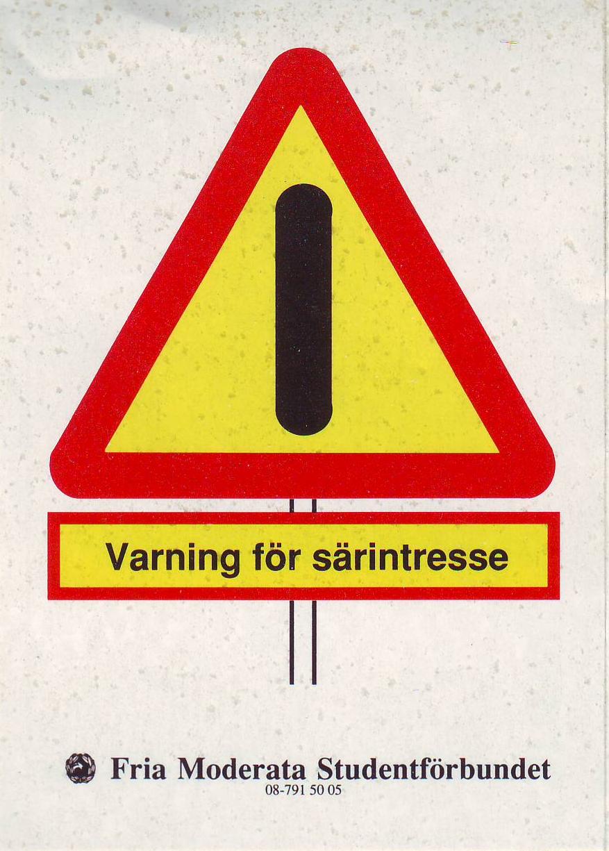 Varning för särintresse