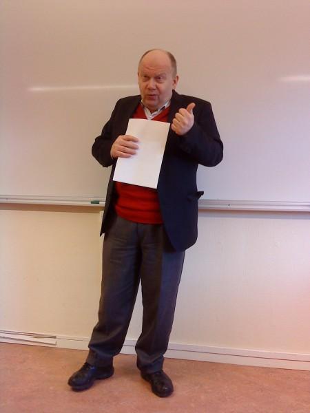 Bo-Inge Andersson, under föredraget