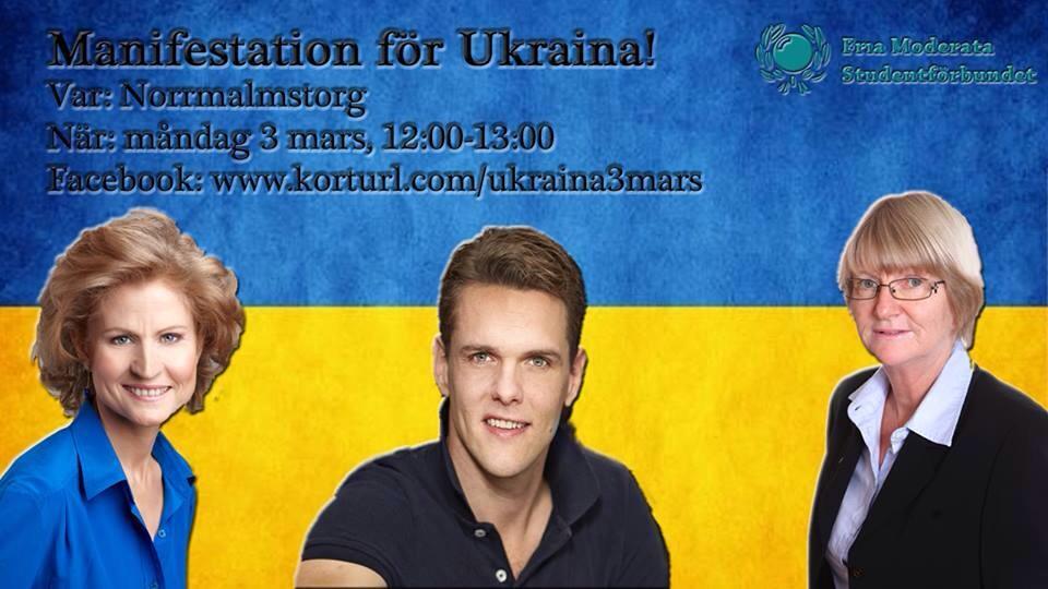 Stockholm: Manifestation för Ukraina 3/3