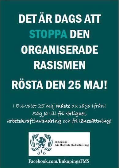 Linköping: kampanj för fri rörlighet 23/5