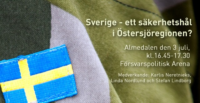 Visby: Försvarspolitiskt seminarium 3/7