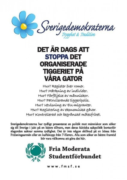 Dagens flygblad: Sverigedemokraterna