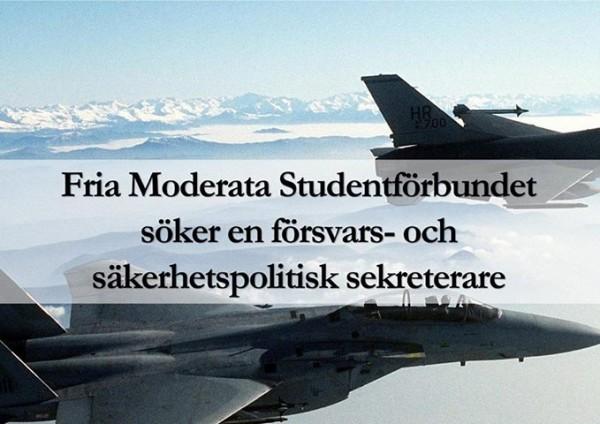 FMSF söker nya försvarspolitisk sekreterare!