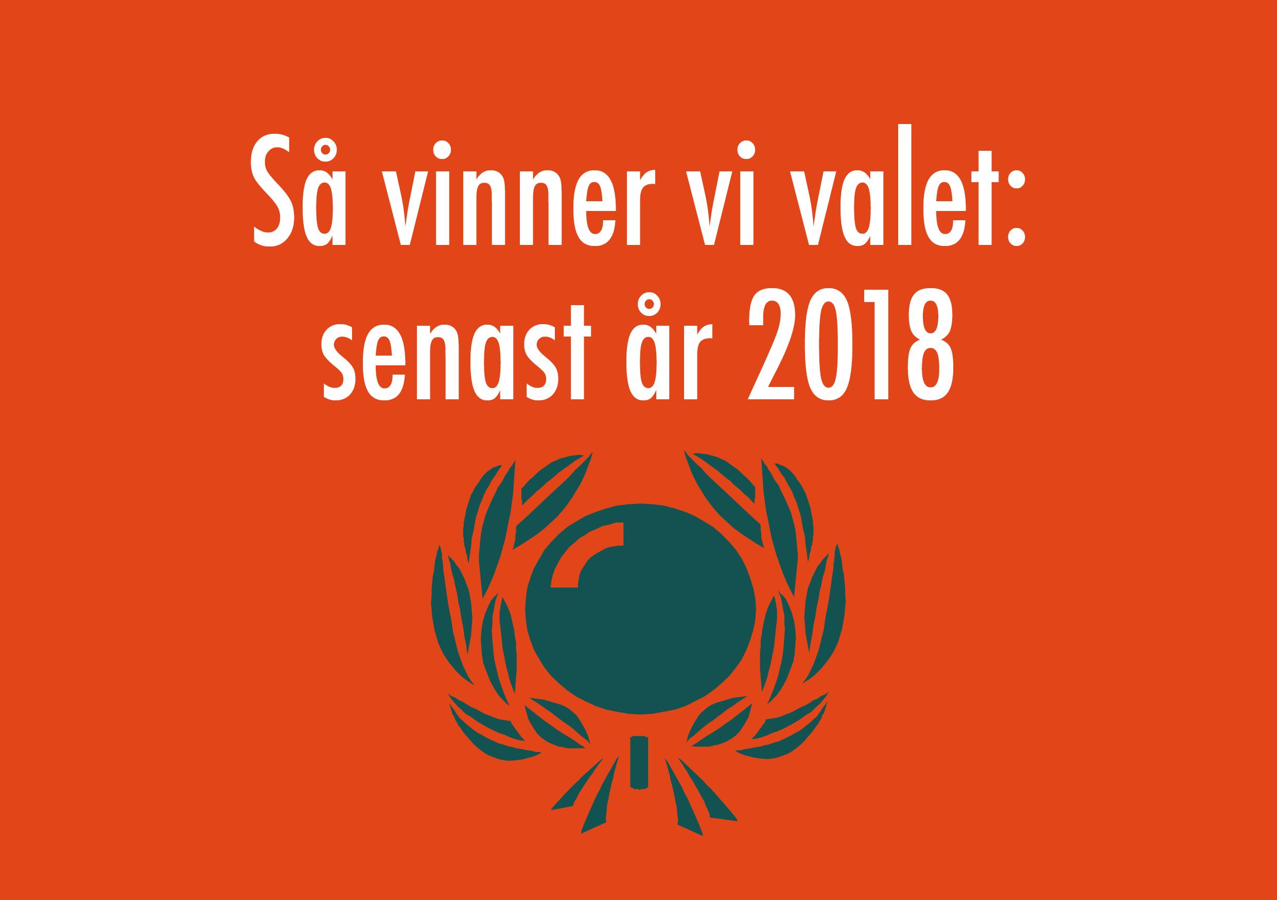 Ny rapport: så vinner vi valet – senast år 2018