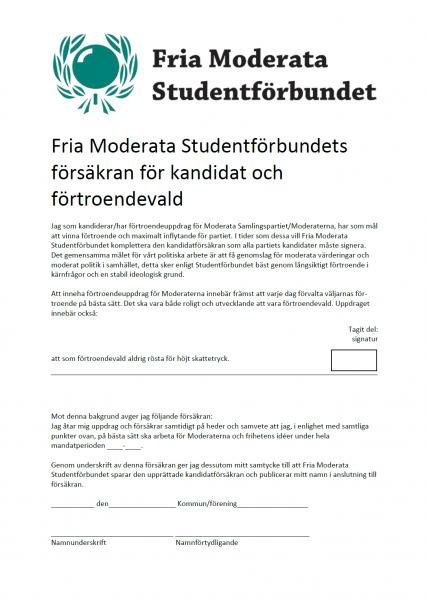 FMSF Kandidatförsäkran