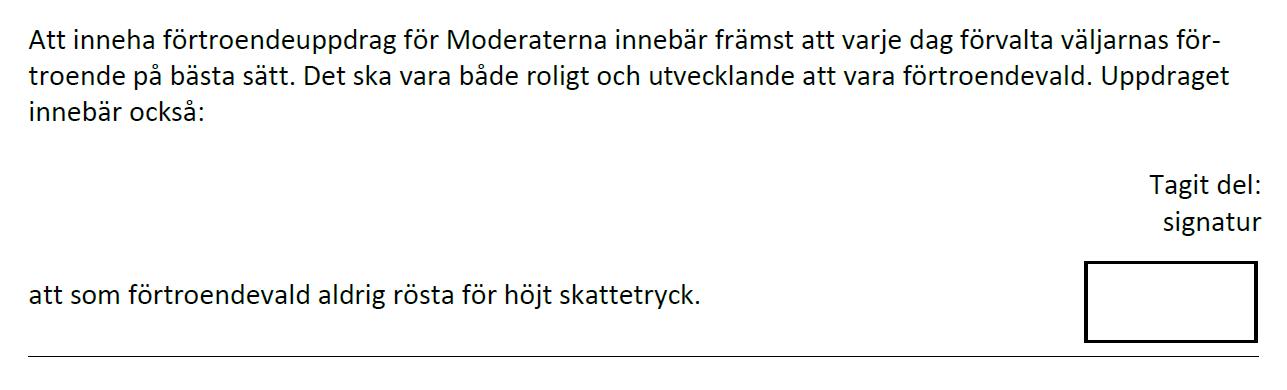 Undertecknare av FMSF:s kandidatförsäkran