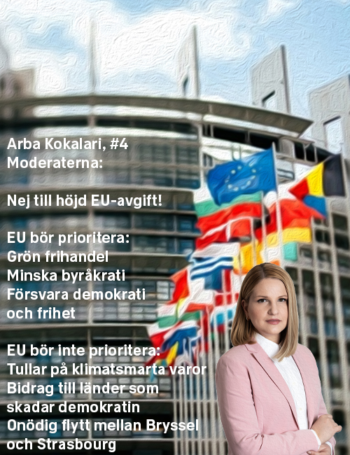 Stoppa höjningen: Arba Kokalari, #4 Moderaterna