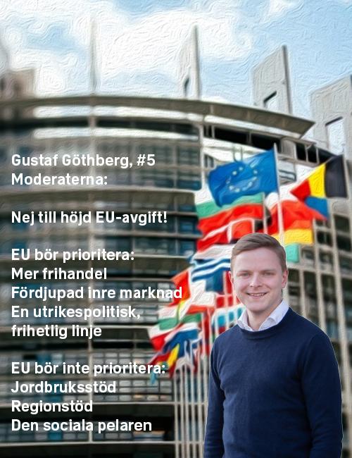 Stoppa höjningen: Gustaf Göthberg, #5 Moderaterna