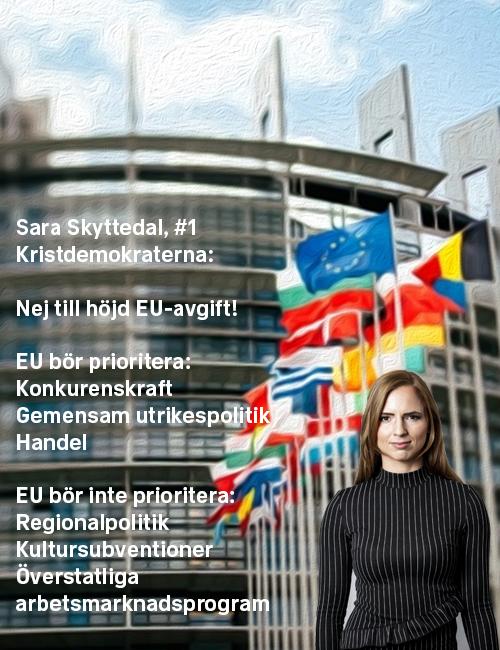 Stoppa höjningen: Sara Skyttedal, #1 Kristdemokraterna