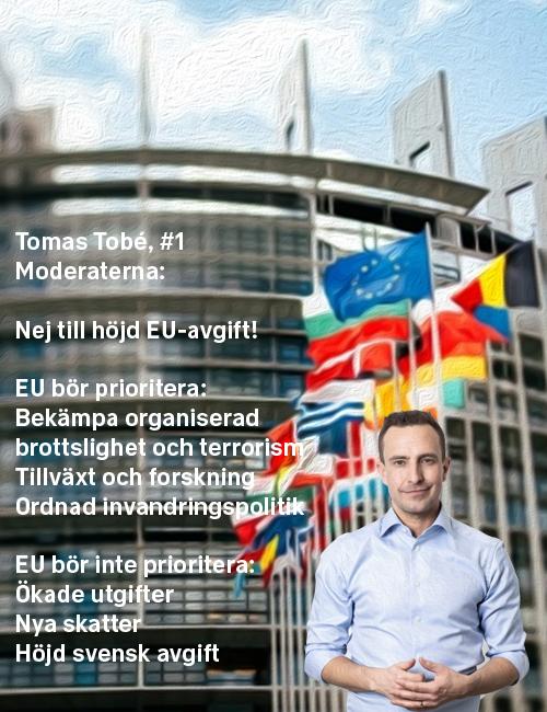 Stoppa höjningen: Tomas Tobé, #1 Moderaterna