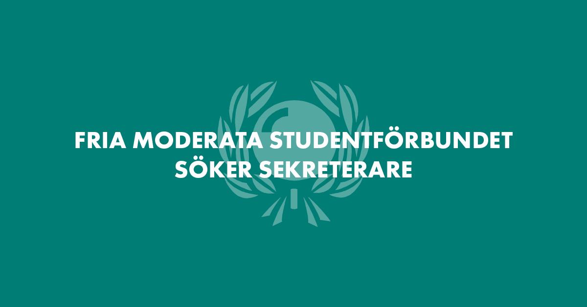 Studentförbundet söker sekreterare