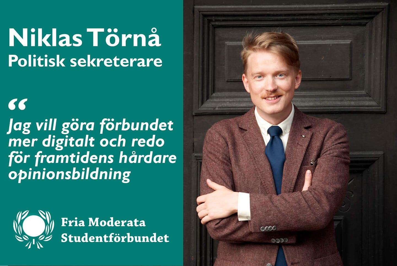 Niklas Törnå ny politisk sekreterare
