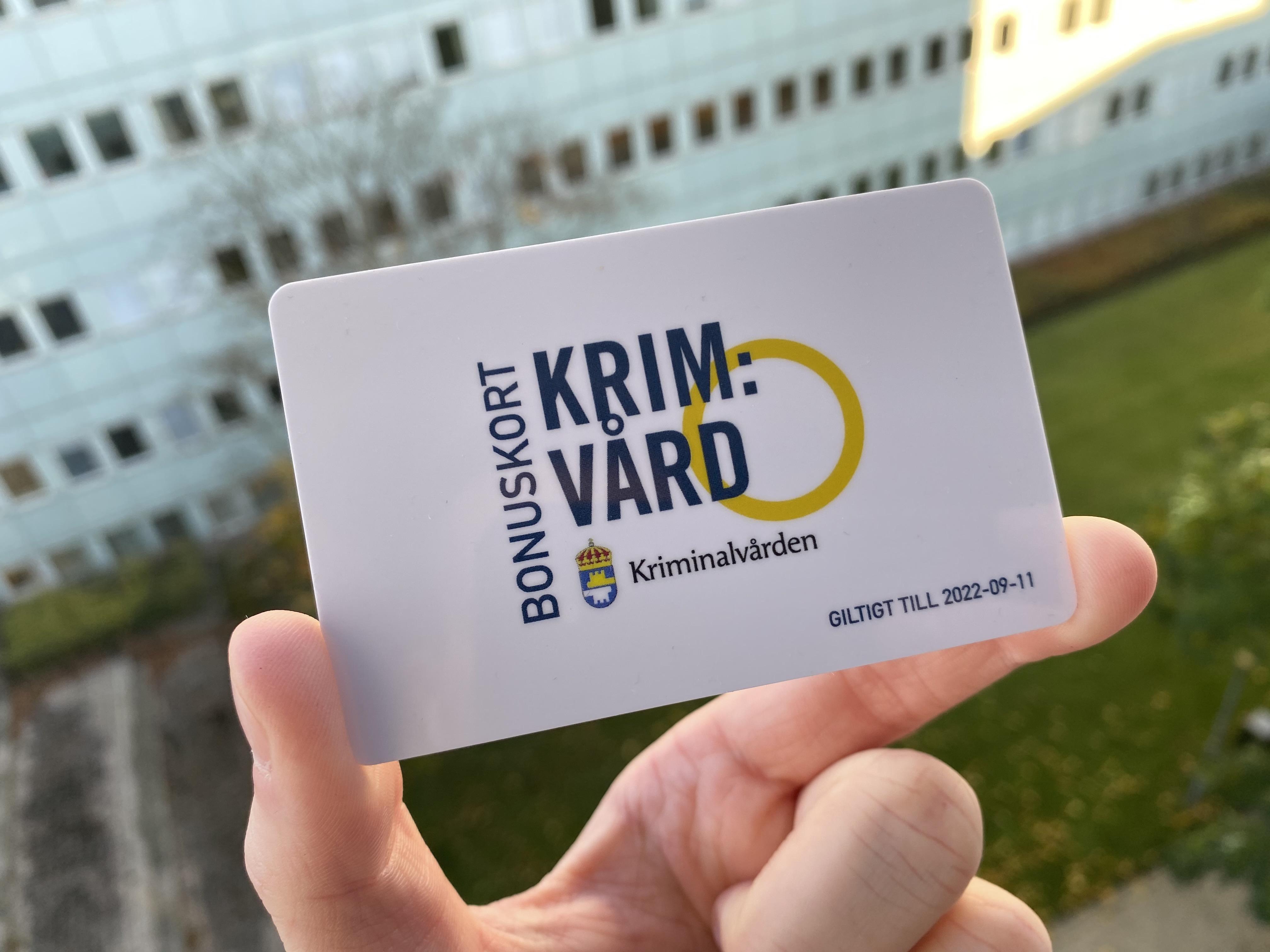 FMSF lanserar Kriminalvårdens bonuskort