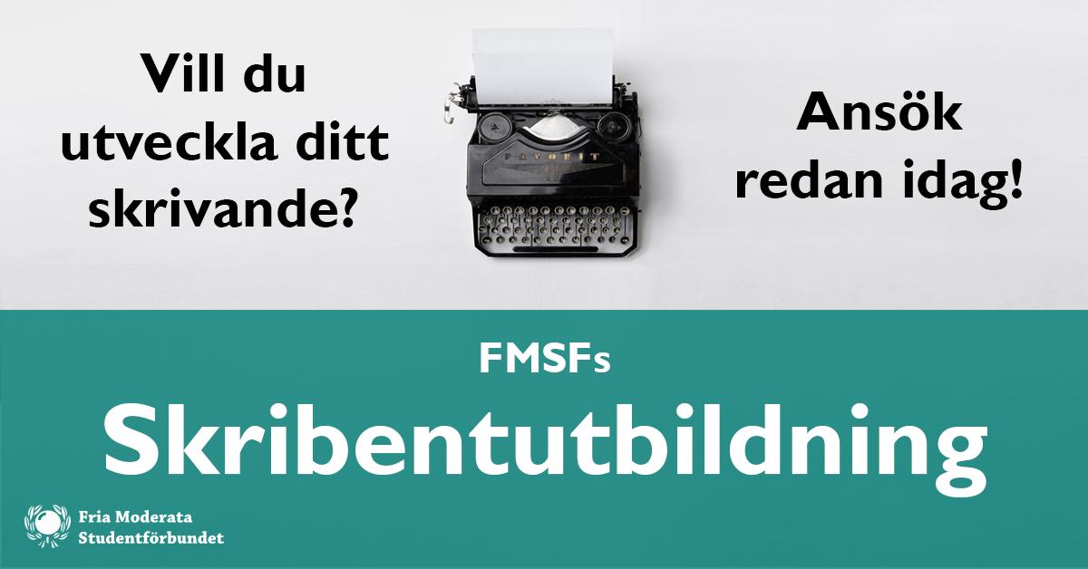 Ansök till FMSFs Skribentutbildning